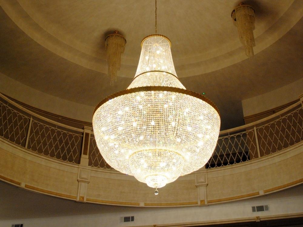Chandelier «Crystal hemisphere»