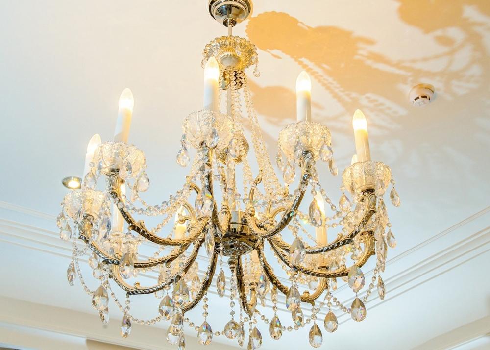 Classic bronze chandelier