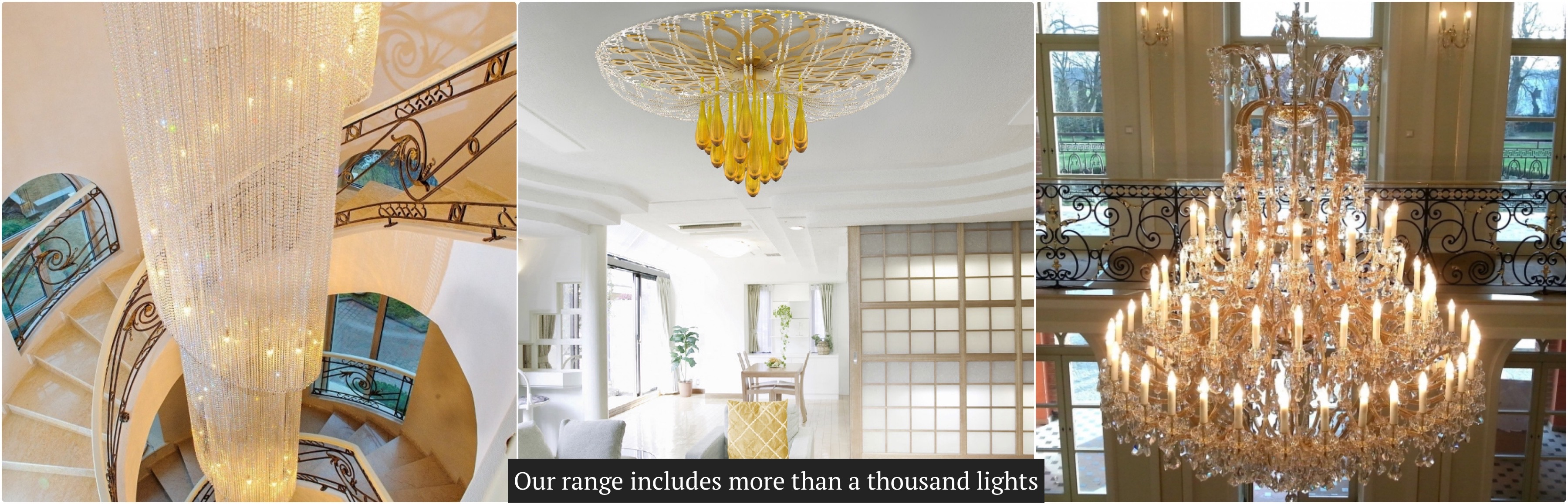 Our range includes more than a thousand lights