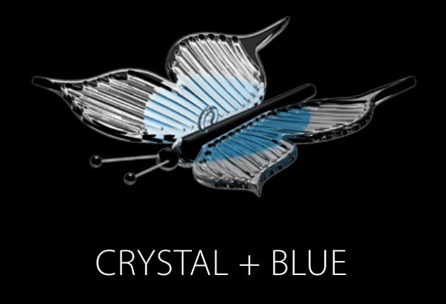 PAPILLON (CRYSTAL + BLUE)