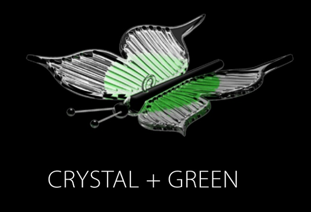PAPILLON (CRYSTAL + GREEN)
