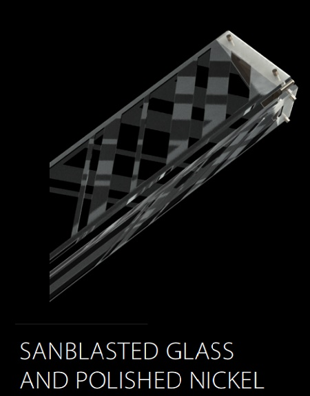 MANHATTAN (SANBLASTED GLASS AND POLISHED NICKEL)