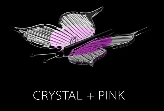 PAPILLON (CRYSTAL + PINK)