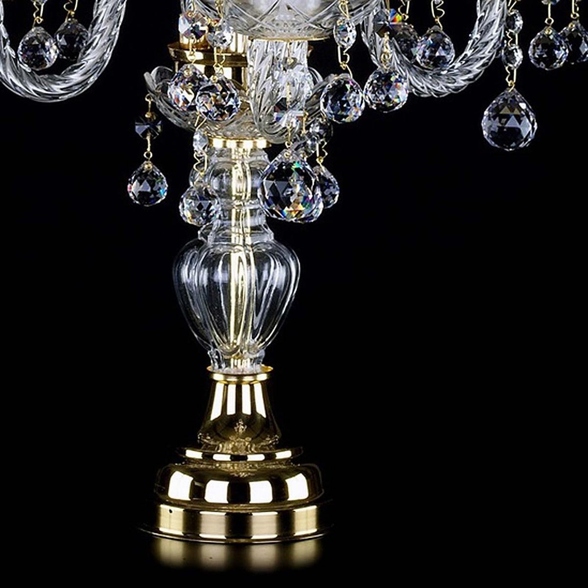 Crystal table lamp MARKETA III. balls