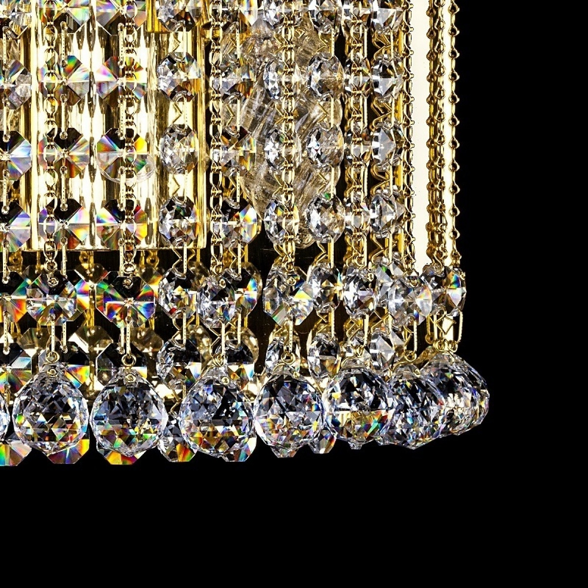 Crystal wall-mounted lighting fixture STANA WL