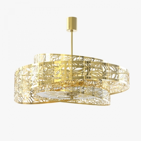 GLORY 03. Ceiling light in Black and Nickel