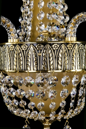 Crystal wall-mounted lighting fixture NADINE II. Brass Antique