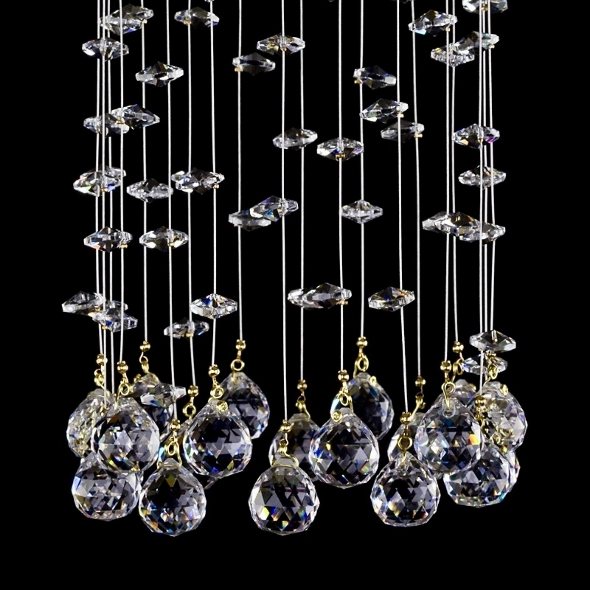 Crystal wall-mounted lighting fixture SMALL GAME 96-01 WL