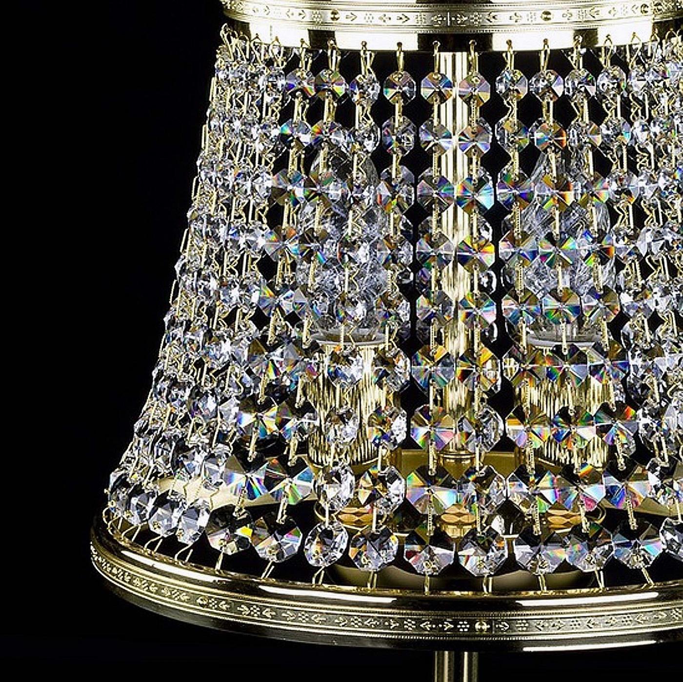 Lampe de bureau en cristal KLOTYLDA dia. 250 TL