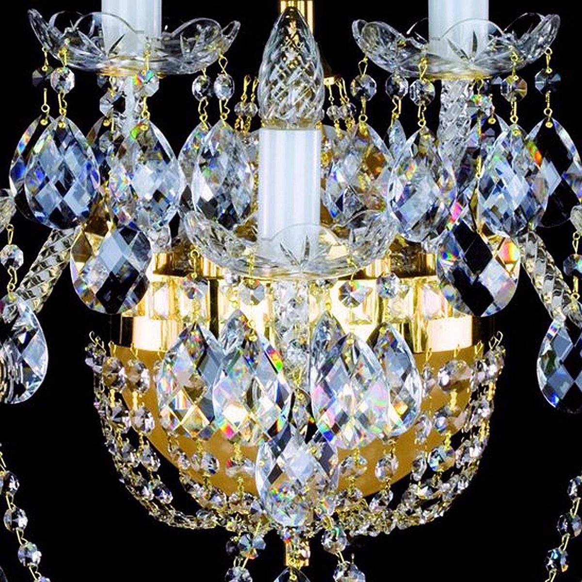 Crystal wall-mounted lighting fixture SARA V. WL