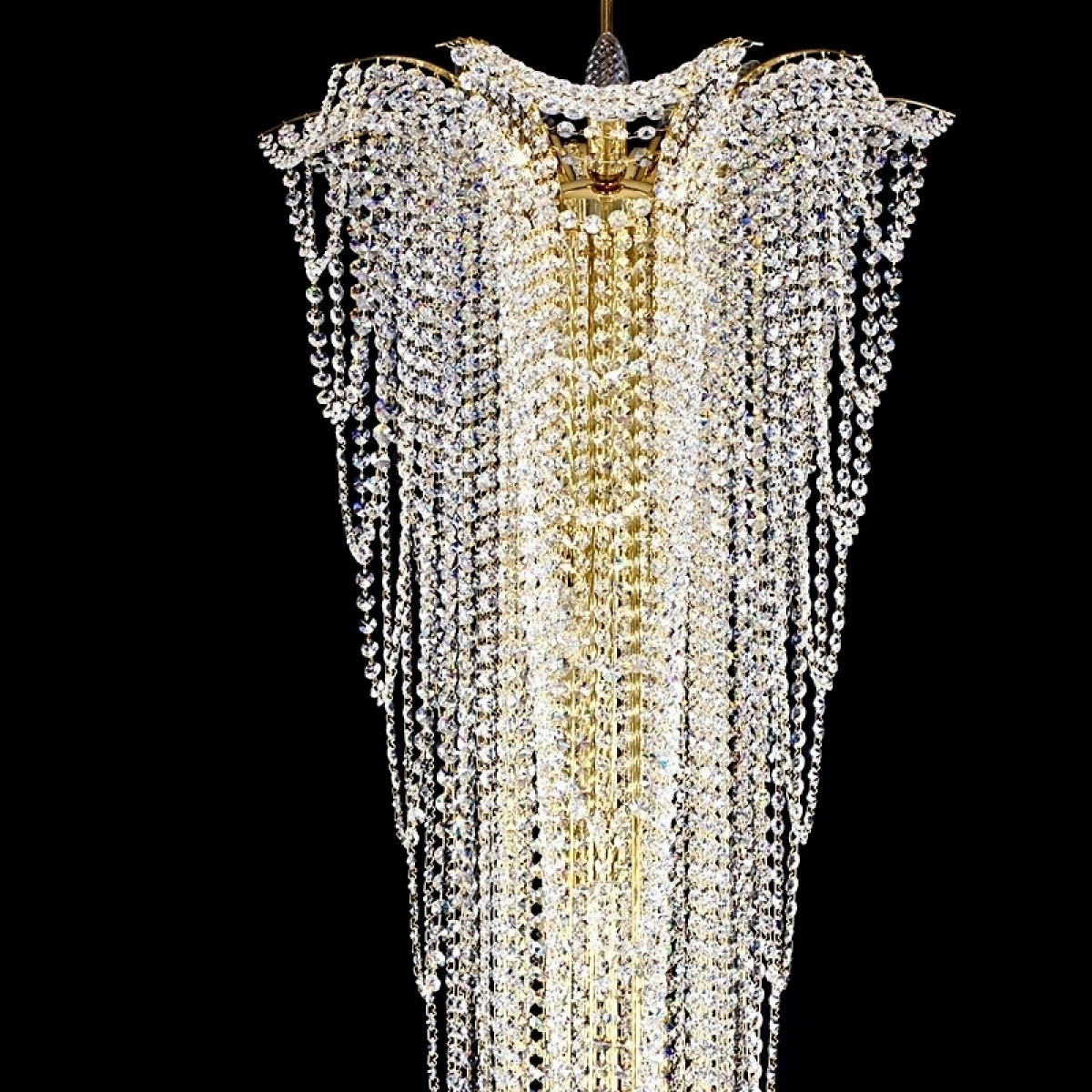 Large crystal lamp MELANIE dia. 550x1500