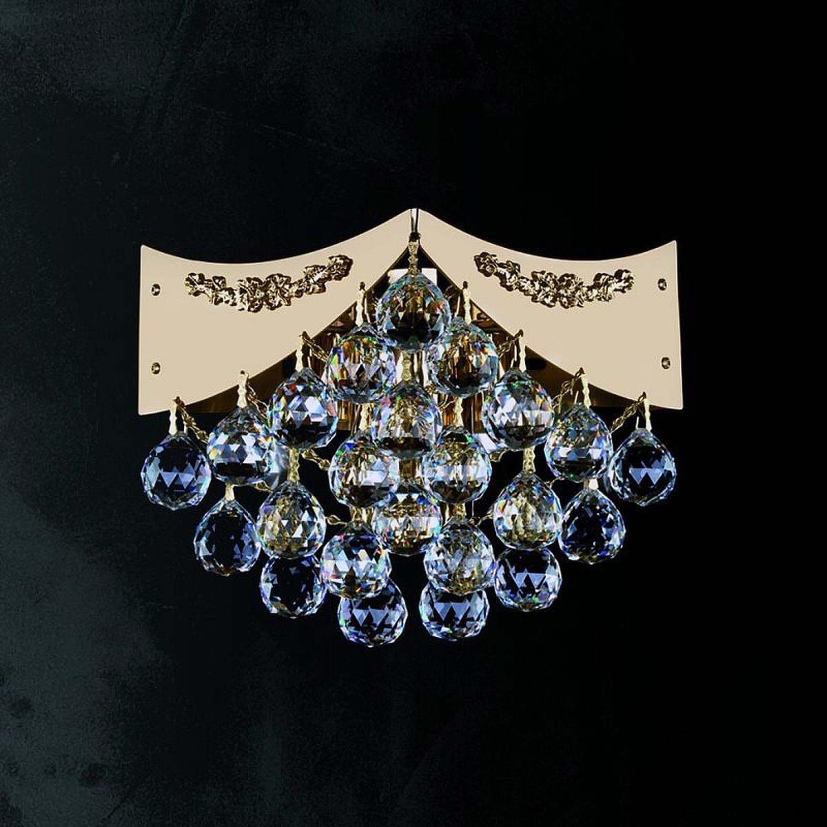 Crystal wall-mounted lighting fixture DAHLIA WL