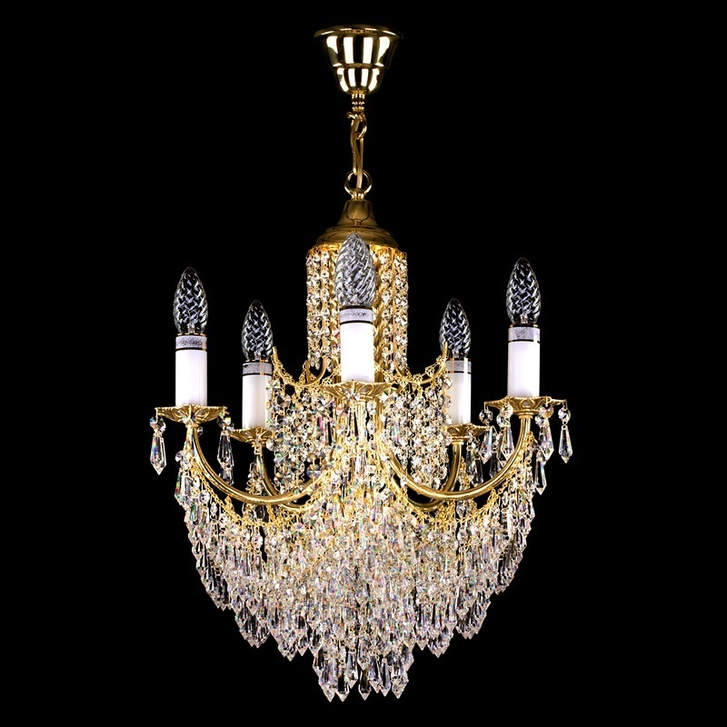 Brass chandelier GITA