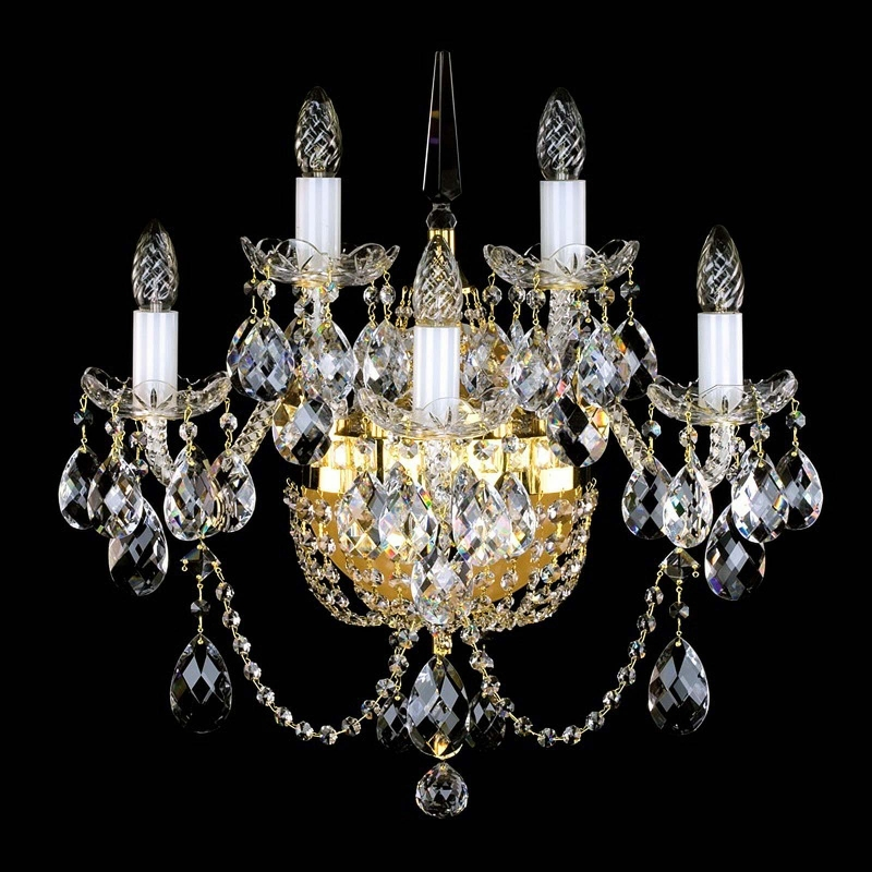 Crystal wall-mounted lighting fixture SARA V. WL