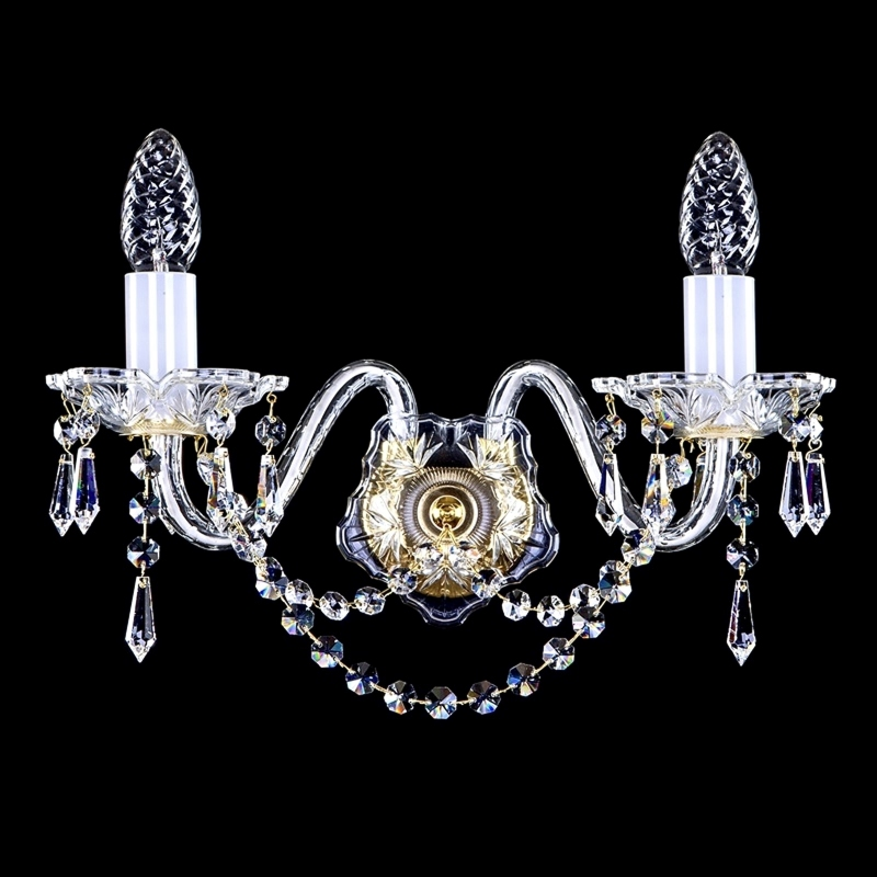 Crystal wall-mounted lighting fixture KIM II. drops WL