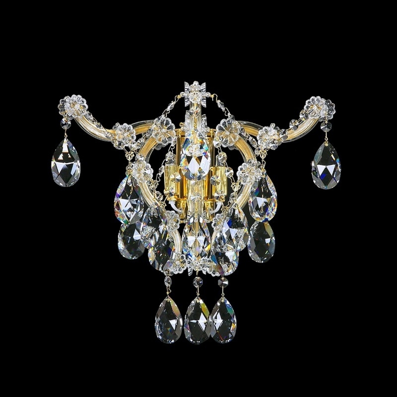 Crystal wall-mounted fixture MARIA TEREZIA 42 SP